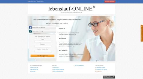 lebenslauf-online.de –  Onlineportal für Lebensläufe